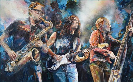 Kunstausstellung 2020 - Plakat mit Musiker